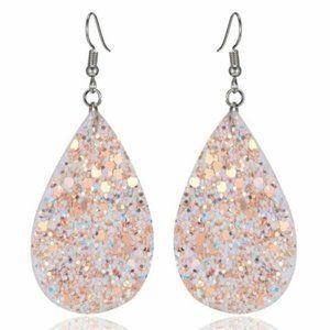 ***3/$20~Glitter Teardrop Earrings***